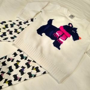 2 pc Scottie Dog Terrier, Sweater& Leggings outfit